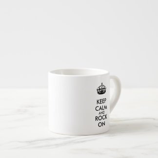 Keep Calm and Rock On White Kraft Paper Espresso Cups