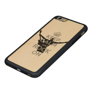Keep Calm and Rock on Carved® Maple iPhone 6 Plus Bumper