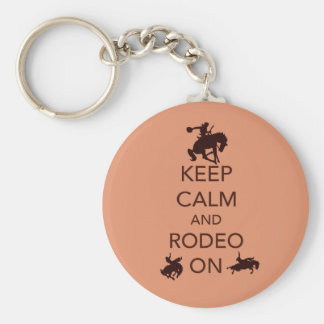 Keep Calm and Rodeo On cowboy cowgirl gift Key Ring