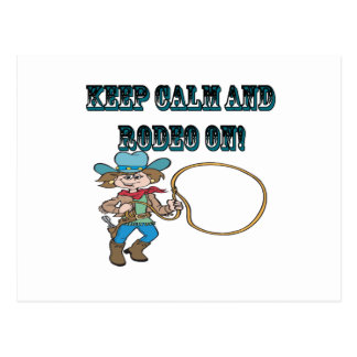 Keep Calm And Rodeo On Postcard