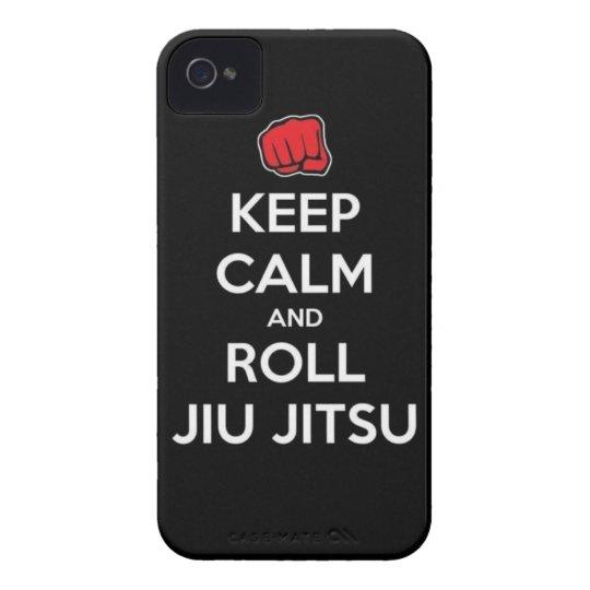 keep calm and roll jiu jitsu iPhone 4 covers