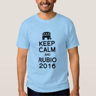 KEEP CALM AND RUBIO 2016 TEE SHIRTS