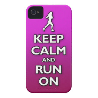 KEEP calm and run on iPhone 4 Case