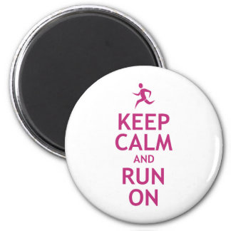 Keep Calm and Run On Magnet