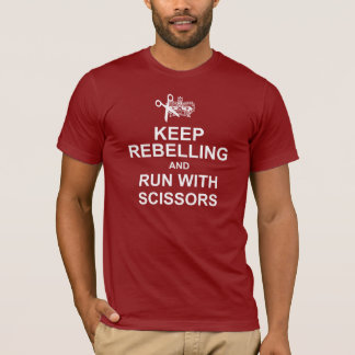 Keep Calm and Run With Scissors Dark Tee