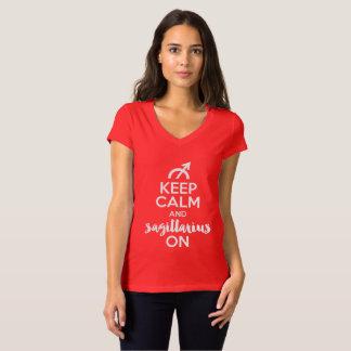 Keep Calm and Sagittarius On Funny Birthday T-Shirt