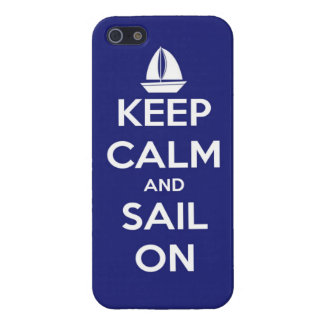 Keep Calm and Sail On Blue Case For iPhone 5/5S
