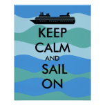 Keep Calm and Sail On Cruise Ship Custom