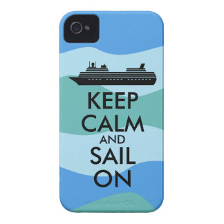 Keep Calm and Sail On Cruise Ship Custom Case-Mate iPhone 4 Cases