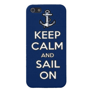 keep calm and sail on iPhone 5/5S case
