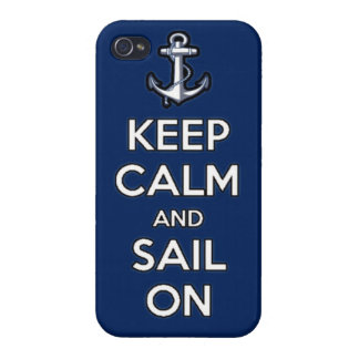 keep calm and sail on iPhone 4 cover
