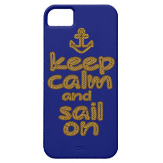 Keep Calm And Sail On Rope Knot Style iPhone 5/5S Cover