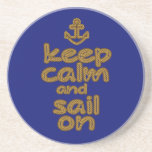 Keep Calm And Sail On Rope Knot Style Coasters