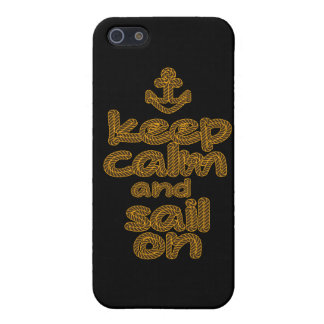 Keep Calm And Sail On Rope Knot Style iPhone 5 Case