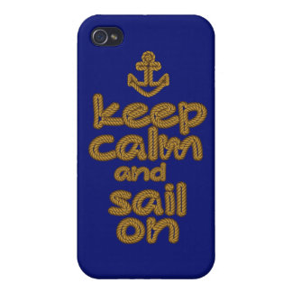 Keep Calm And Sail On Rope Knot Style iPhone 4 Cover