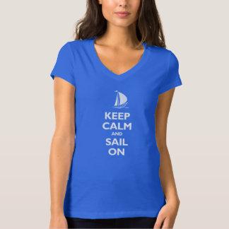 Keep Calm and Sail On Tee Shirt