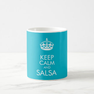 Keep calm and salsa - change background colour basic white mug