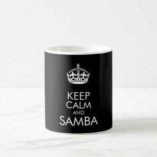 Keep calm and samba - change background colour basic white mug