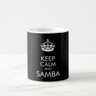 Keep calm and samba - change background colour coffee mug