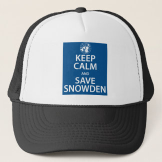 Keep Calm and Save Snowden Trucker Hat