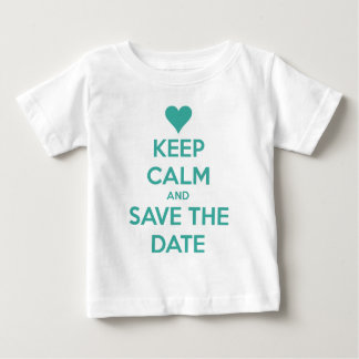 Keep Calm and Save the Date Blue Baby T-Shirt
