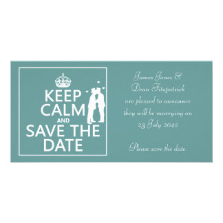 Keep Calm and Save the Date (fully customizable) Photo Card Template