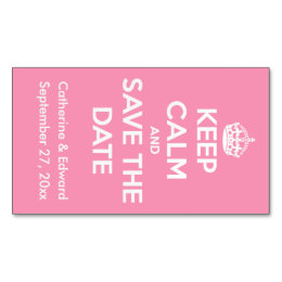 Motivational business cards business card printing zazzle uk keep calm and save the date happy pink and white magnetic business card colourmoves