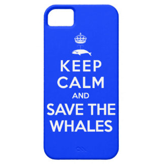 Keep Calm and Save the Whales iPhone 5 Case
