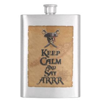 Keep Calm And Say ARRR Hip Flask