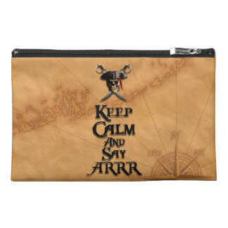 Keep Calm And Say ARRR Travel Accessories Bags
