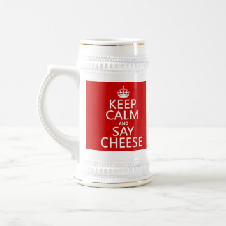 Keep Calm and Say Cheese photography any color Mugs
