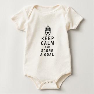 Keep Calm and Score a Goal Bodysuit