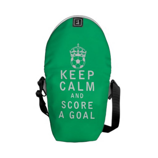 Keep Calm and Score a Goal Messenger Bag