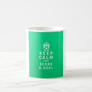 Keep Calm and Score a Goal Morphing Mug