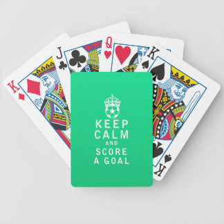 Keep Calm and Score a Goal Poker Cards
