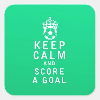 Keep Calm and Score a Goal Square Sticker