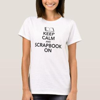 Keep Calm and Scrapbook On Ladies Tee, Black T-Shirt