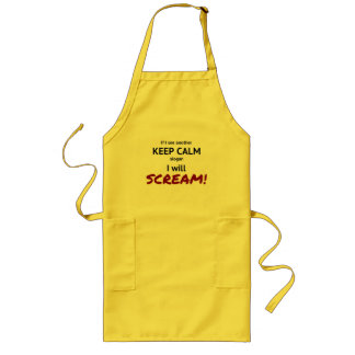 keep calm and scream funny quote long apron
