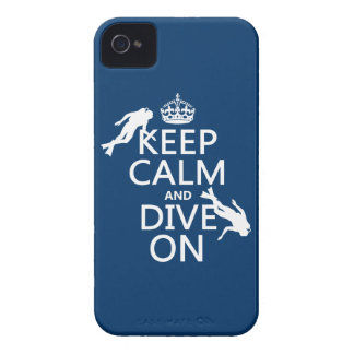 Keep Calm and (scuba) Dive On (in any color) Case-Mate iPhone 4 Cases