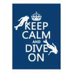 Keep Calm and (scuba) Dive On (in any colour) Personalised Invites