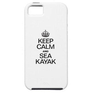 KEEP CALM AND SEA KAYAK iPhone 5 COVERS