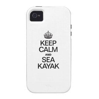 KEEP CALM AND SEA KAYAK iPhone 4 COVERS