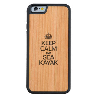 KEEP CALM AND SEA KAYAK CARVED® CHERRY iPhone 6 BUMPER