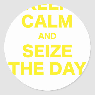 Keep Calm and Seize the Day Round Sticker