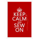 Keep Calm and Sew On (all colours) Poster