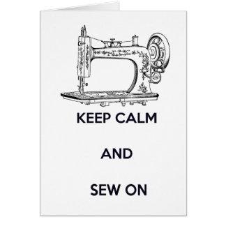 Keep Calm and Sew On, Birthday Greeting Card