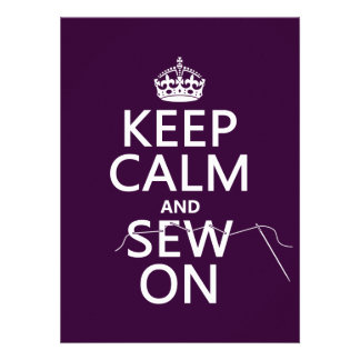 Keep Calm and Sew On (in all colors) Custom Invitations