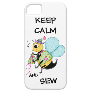 Keep Calm and Sew Sewing Bee iPhone 5 Case