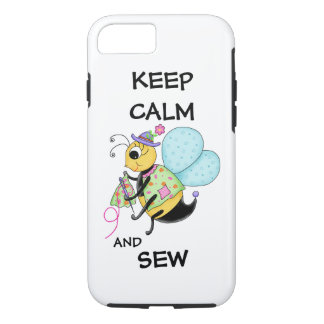 Keep Calm and Sew Sewing Bee iPhone 7 Case