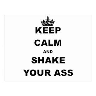 KEEP CALM AND SHAKE YOUR ASS POSTCARD